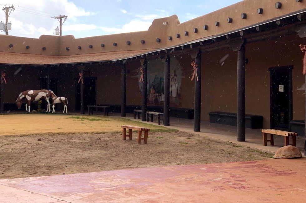 Ysleta del Sur Pueblo Cultural Center Courtyard
