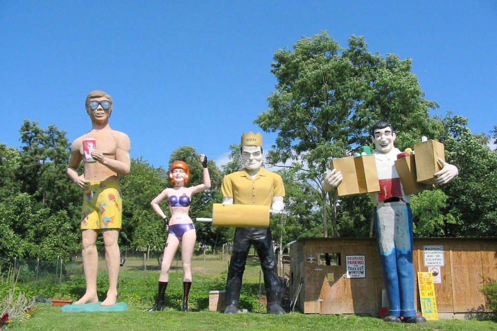 Four fiberglass giants
