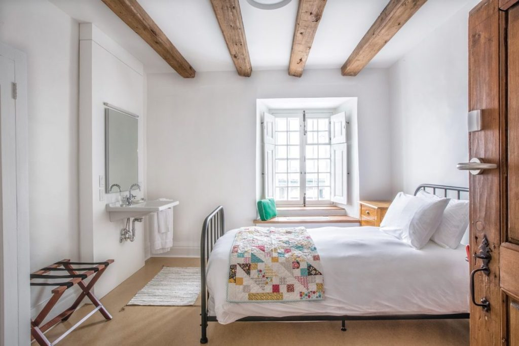 "Traditional ""monastic"" room"