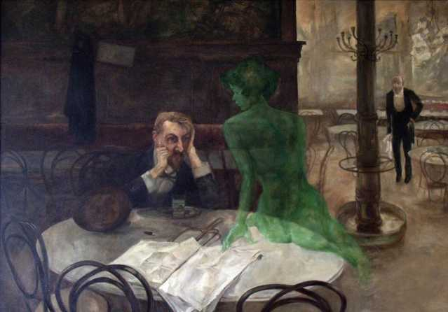 """The Absinthe Drinker"" by Viktor Oliva"