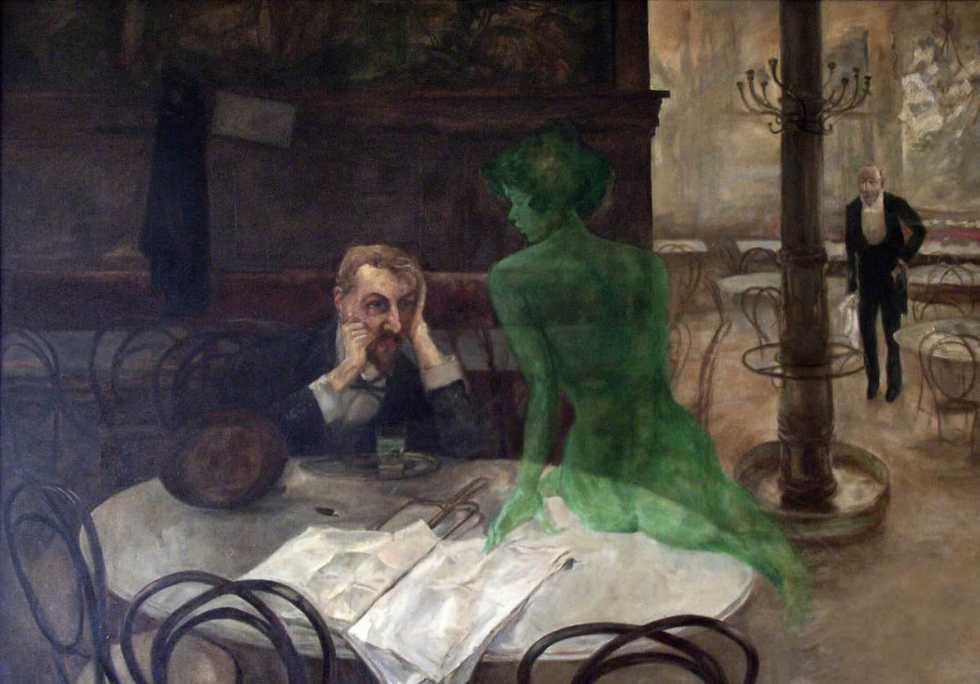 """The Absinthe Drinker"" by Viktor Oliva"