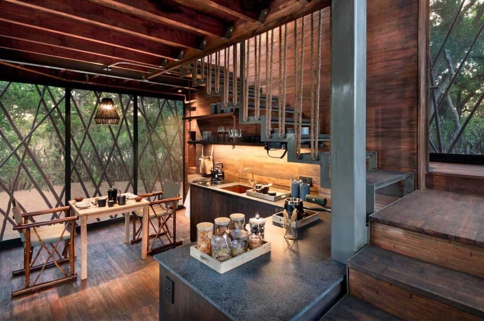 Treehouse kitchen area