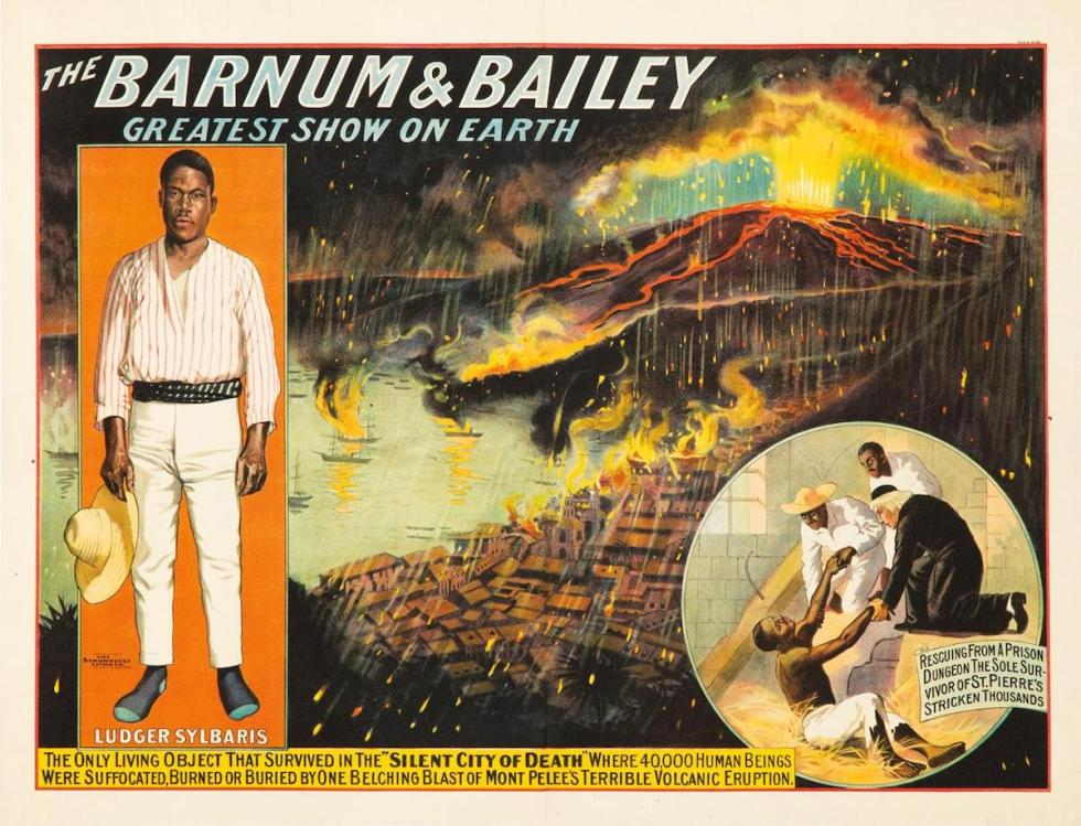 Barnum & Bailey vintage poster about Ludger Sylbaris
