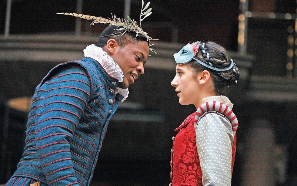 "scene from Globe Theater's ""Romeo & Juliet"" 2009 performance"