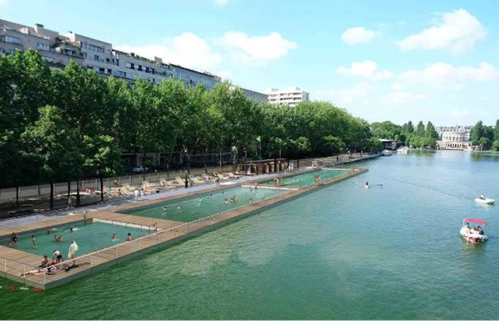 Bassin de la Villette in Paris, France