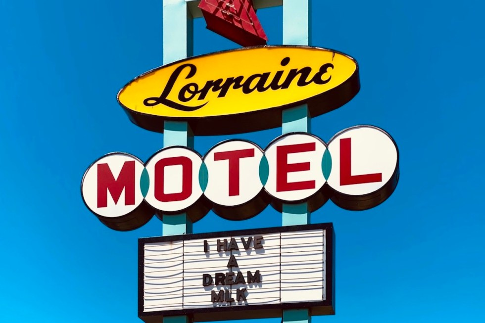 the famous Lorraine Motel sign