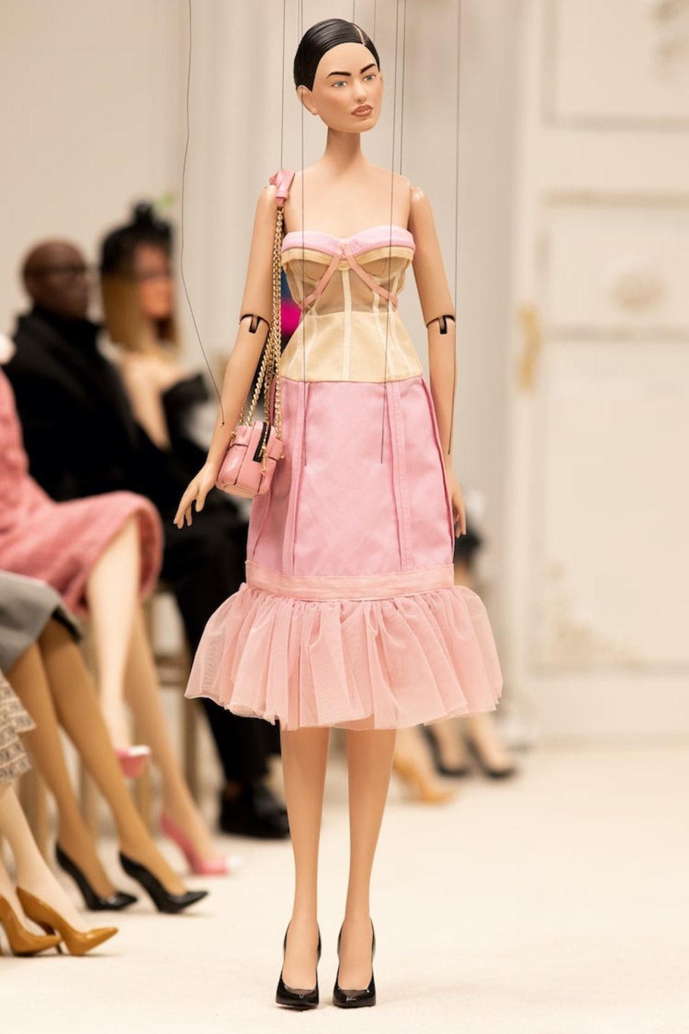 Moschino SS21 fashion show puppet