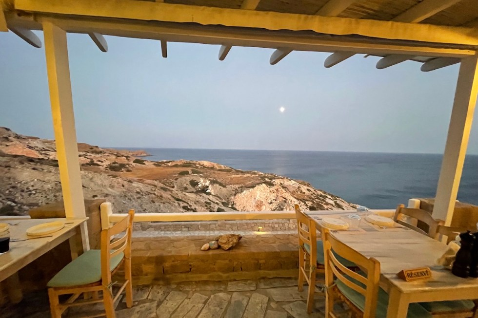 Psaravolada Restaurant Milos Greece