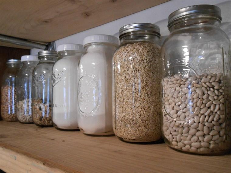 jars, organizing, oatmeal, beans, rice, sugar, simple, home decor