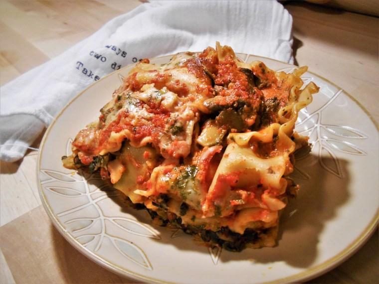 vegetable lasagna, vegan lasagna
