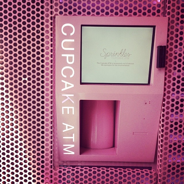 The infamous cupcake ATM at Sprinkles! Technology used only for the best purposes.