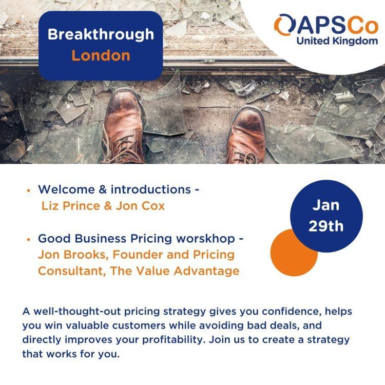 Pricing workshop for APSCo
