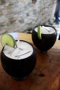 Limonada de coco at La Mulata in Cartagena