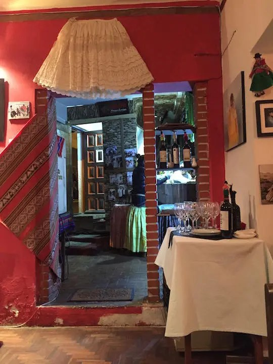 The restaurant Mi Chola, La Paz
