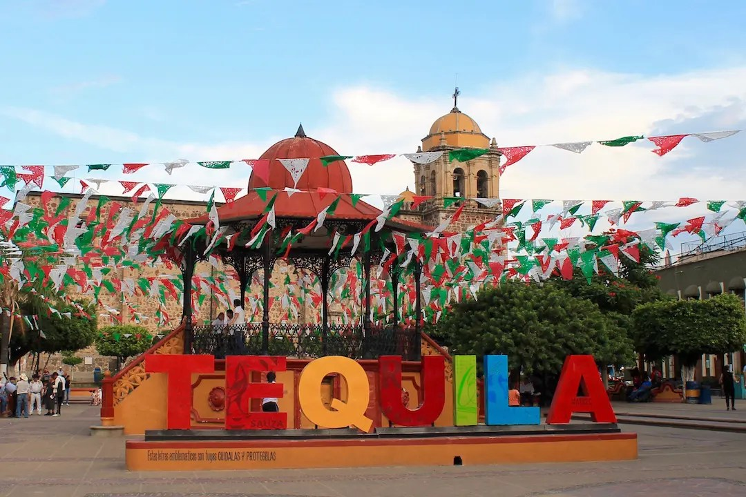 Tequila sign in the main town square of Tequila
