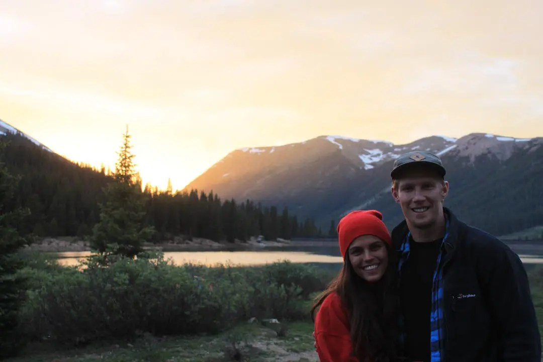 Eddie and Kelli in the mountains of Colorado