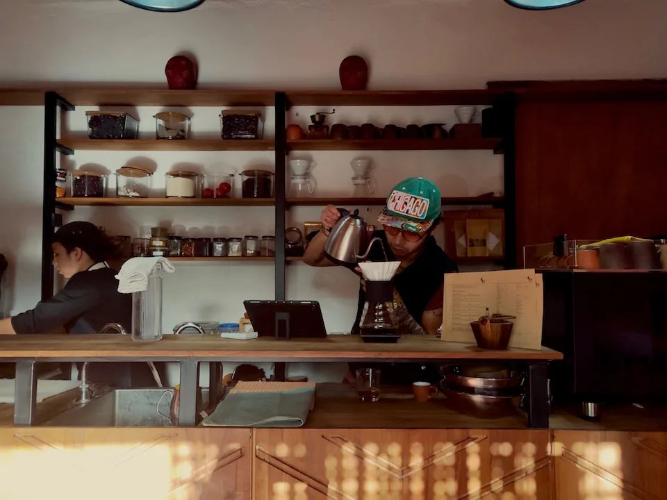 Baristas making coffee at Filemon Coffee Producers