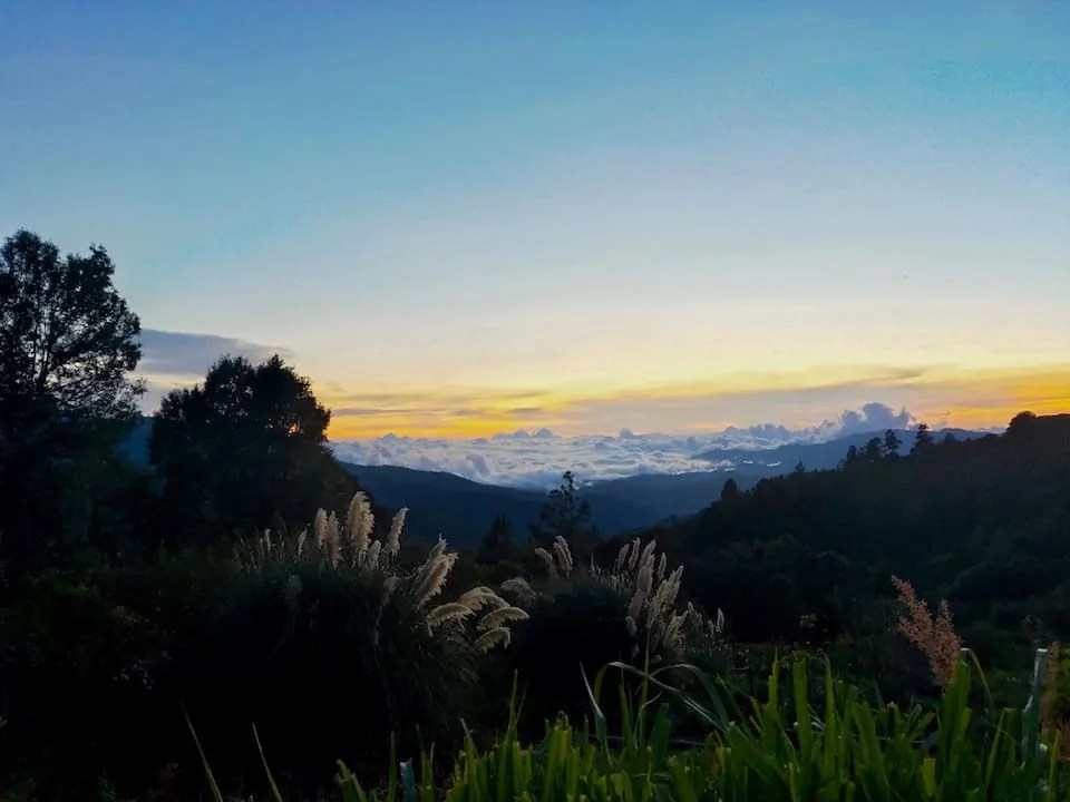 Sunset set over San Jose del Pacifico