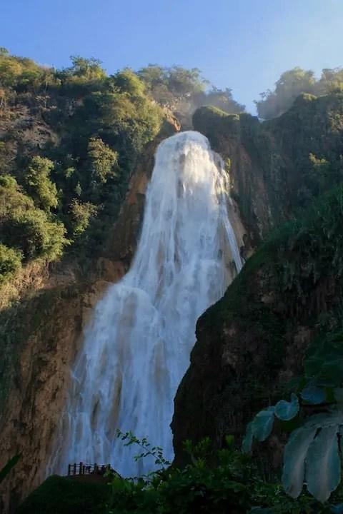 Velo de Novia, the 120 meter waterfall at El Chiflon in Chiapas, Mexico