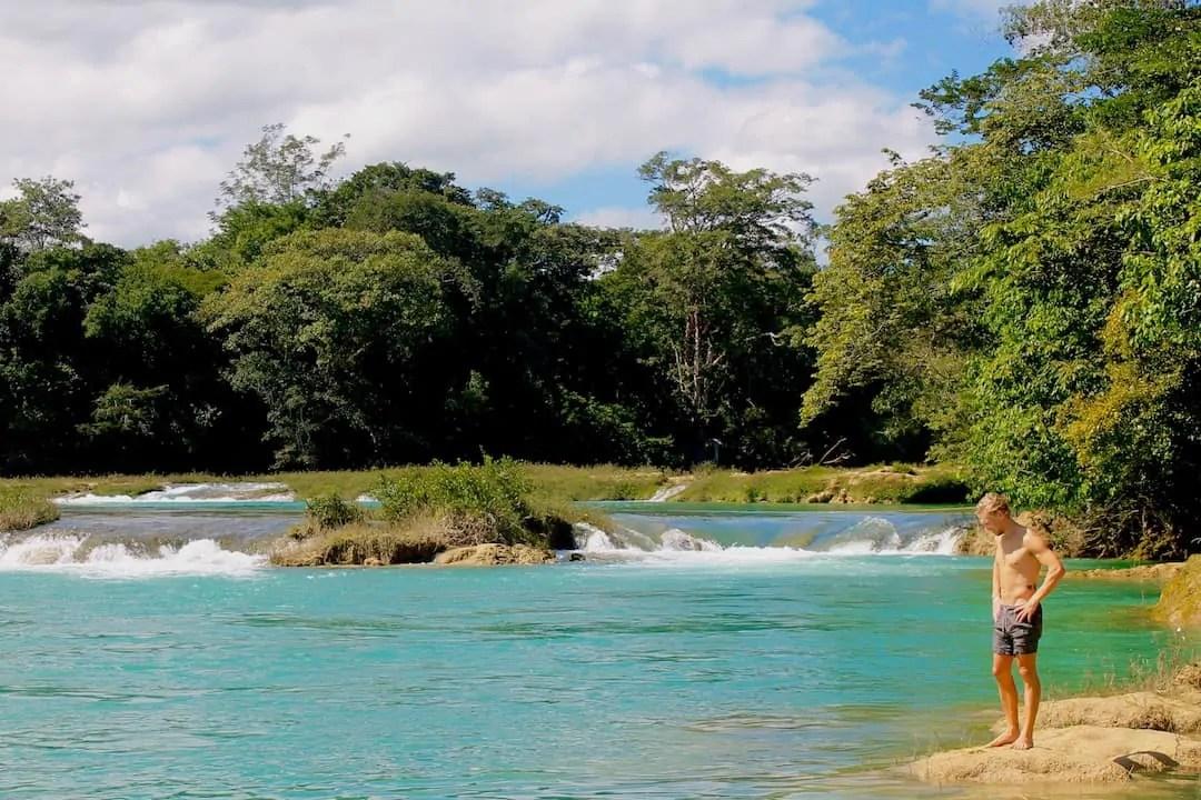 Aqua water at Las Nubes, one of Chiapas' best water