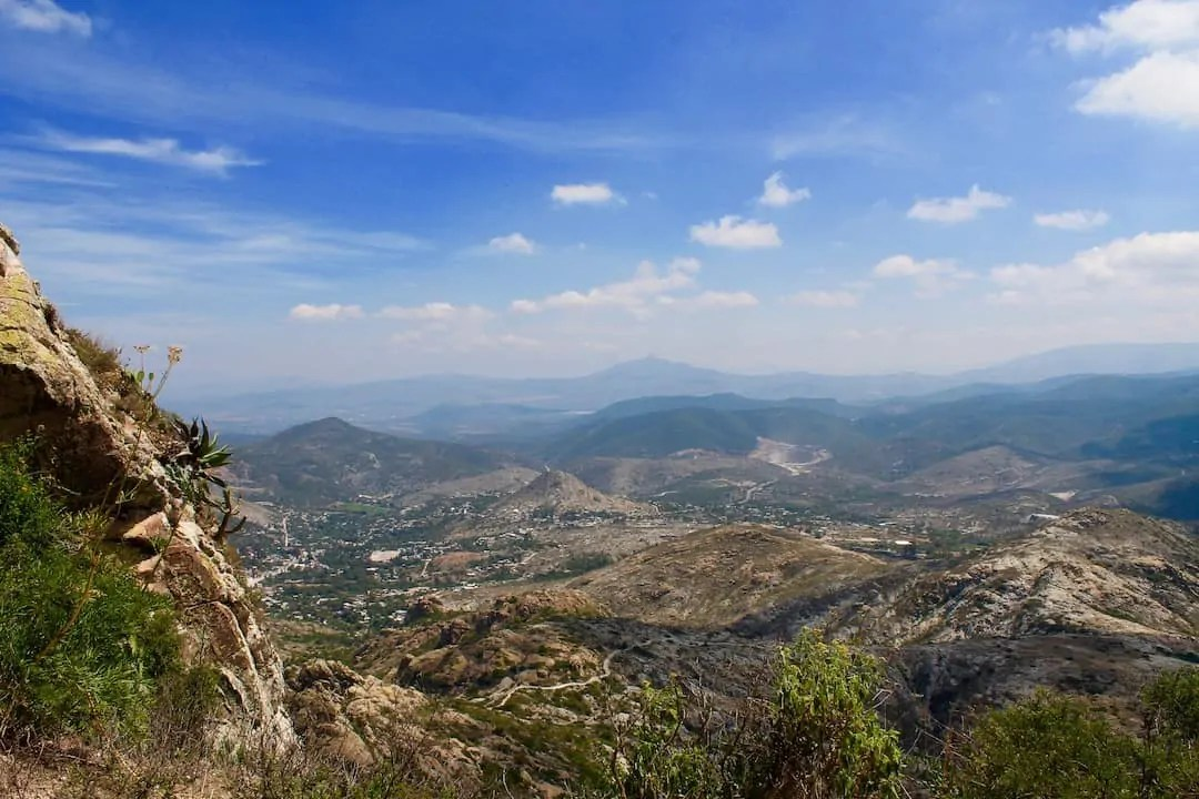 Overlooking the valley from the top of the monolith in Bernal