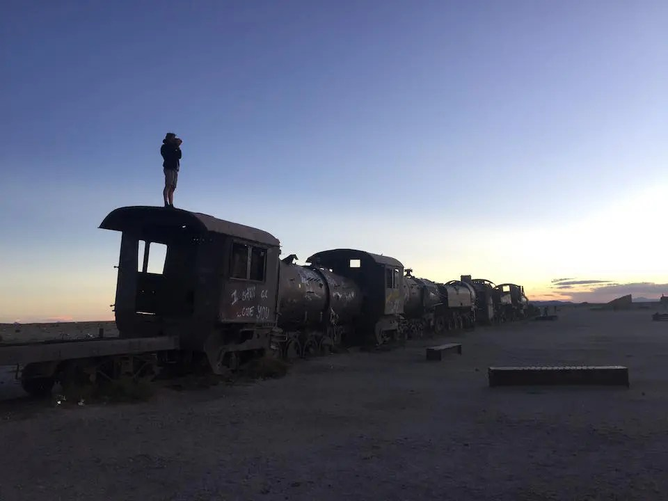 Train Graveyard in the Bolivia Salt Flats without a tour