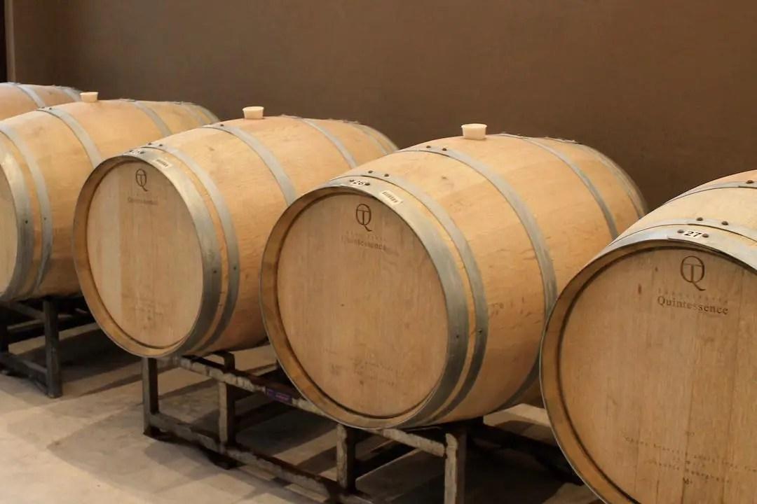 Wine barrels at Aranjuez in Tarija Bolivia