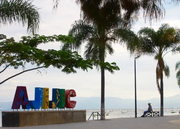 The sign of Ajijic on one of the road trips in Mexico