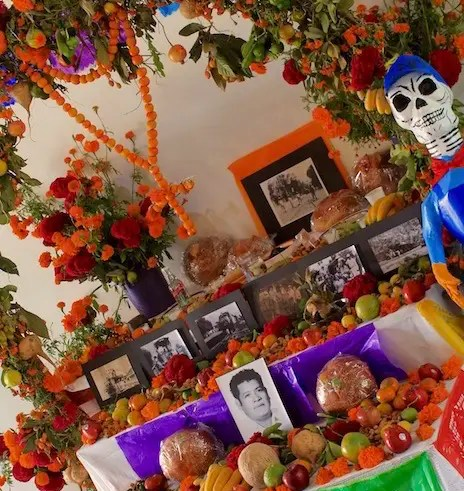 Ofrendas help guide the spirits back to their families during day of the dead in Oaxaca