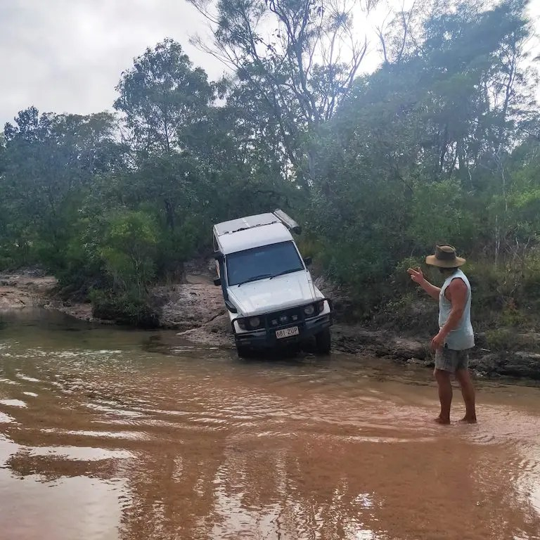 Cape York trip planning should include making sure you have the necessary recovery equipment for tackling creek crossings along the Old Telegraph Track.