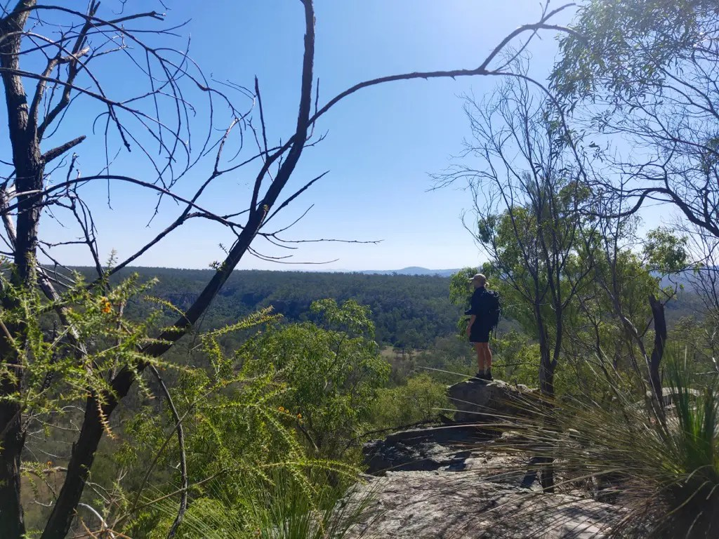 Cania Gorge lookout from the Giant's Chair one of the Cania Gorge National Park walks