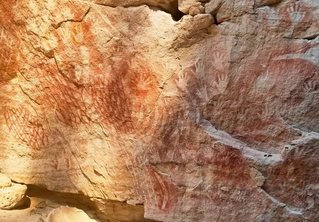 Aboriginal art found along the trails in Carnarvon Gorge Carnarvon National Park