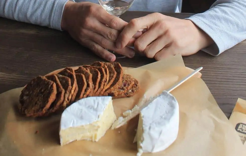 Enjoying the cheese at Tongola with some local wine is one of the highlights of the Great Eastern Drive Tasmania