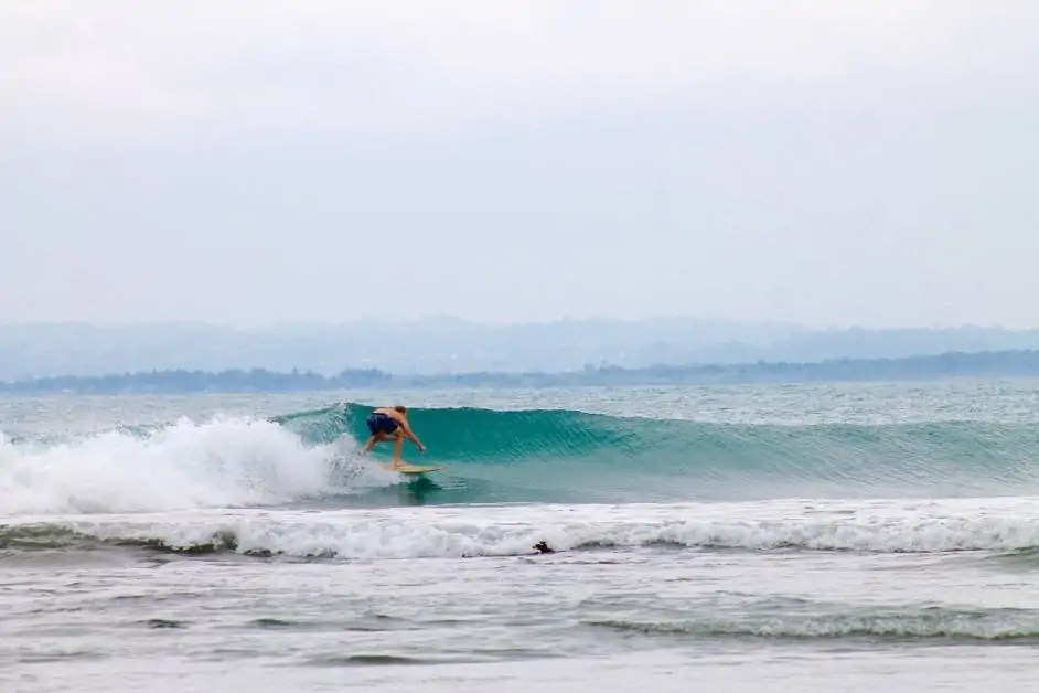 Surfing at Mompiche