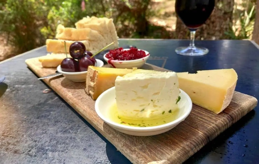 Cheese board at Bruny Island Cheese Company on Bruny Island
