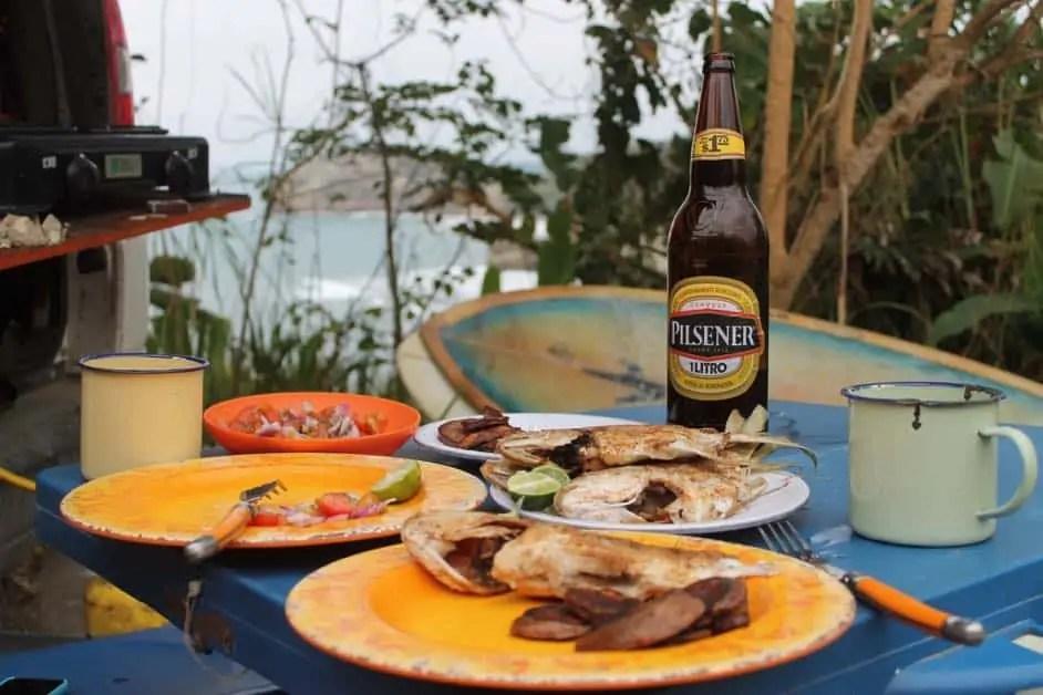 Fried fish in Ecuador