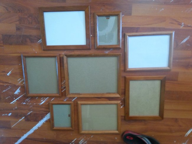 Picture frame collage before and after