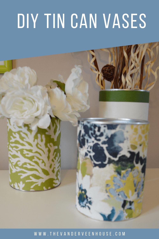 DIY tin can vase