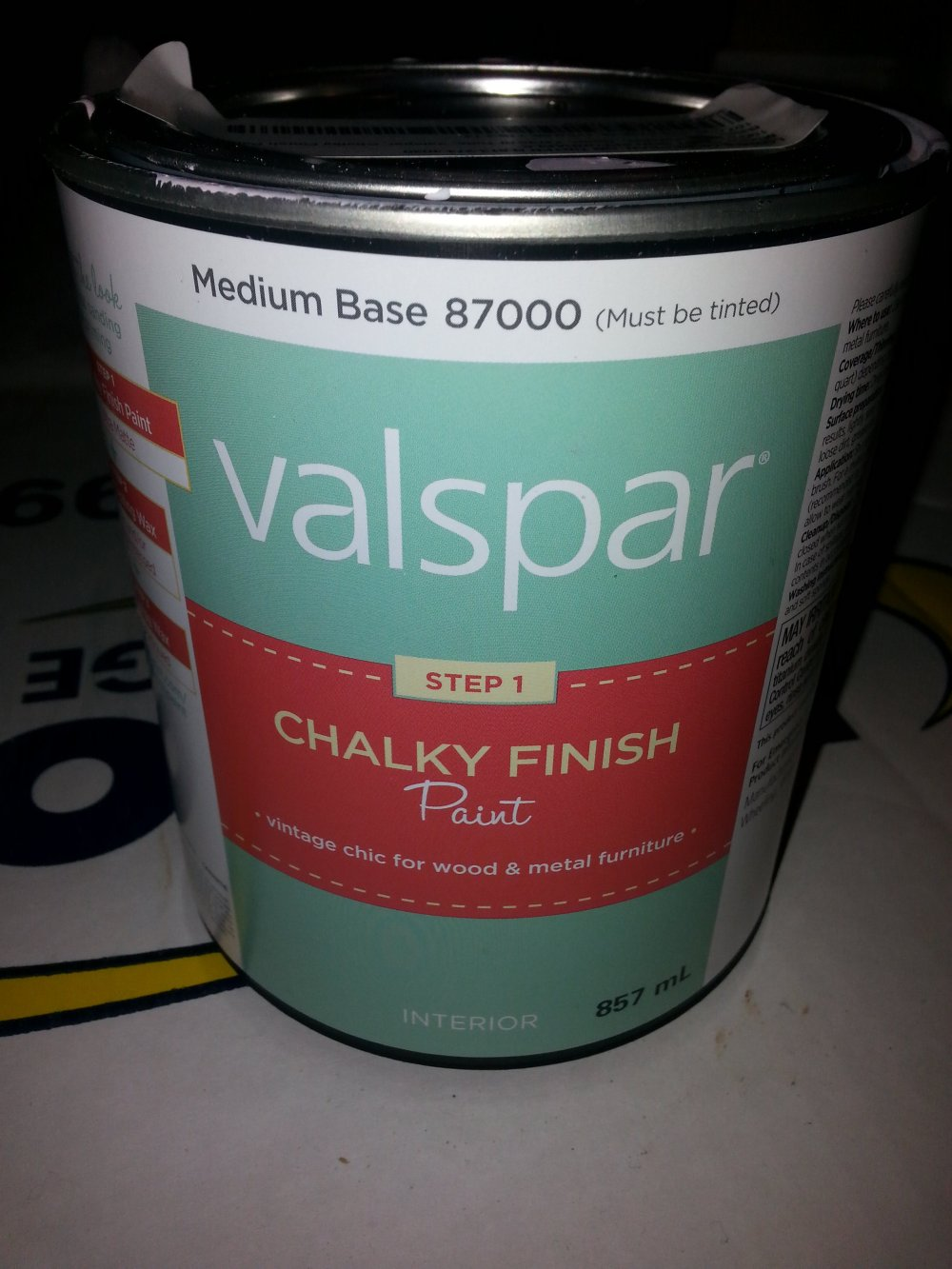 DIY painted pink furniture makeover using pink valspar chalk paint