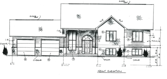 Plans for a raised bungalow