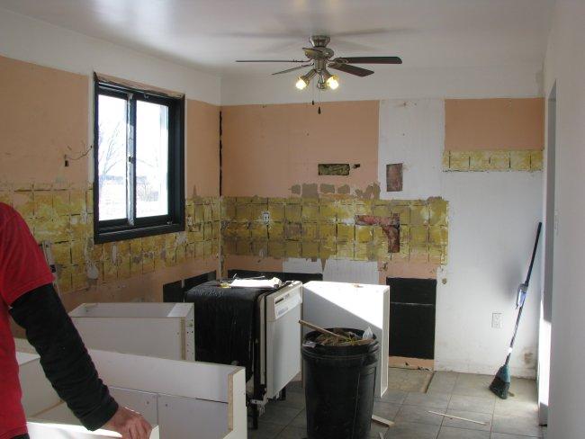 Gutted kitchen