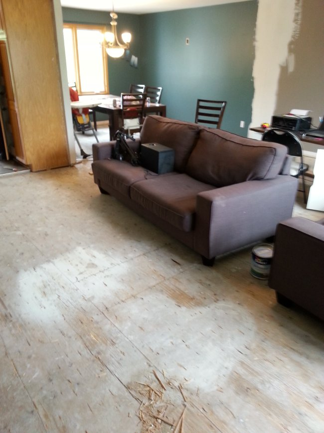 1990s split level makeover hardwood flooring