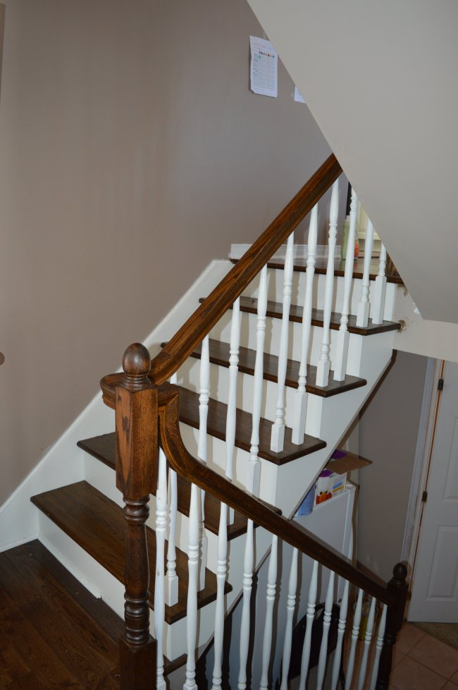 1990s oak stair makeover