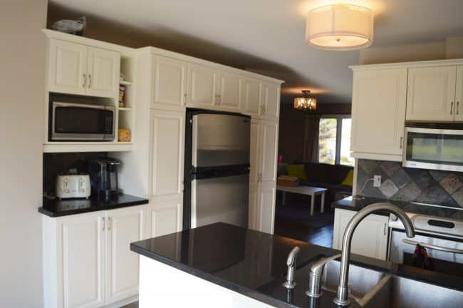simply white painted oak kitchen