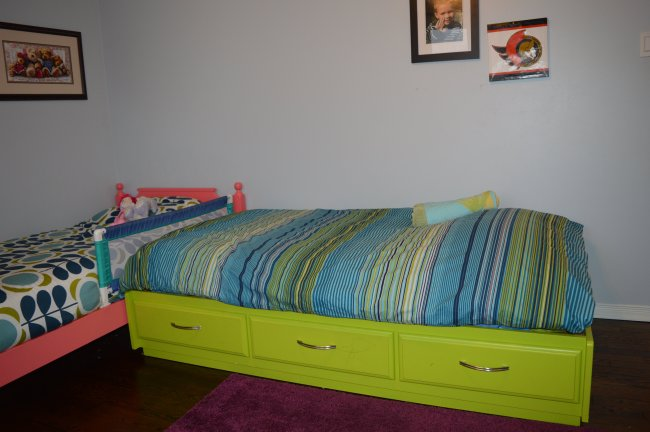 blue and green kid bedroom