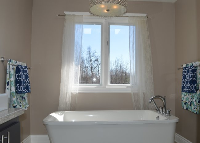 Bathroom with free standing tub
