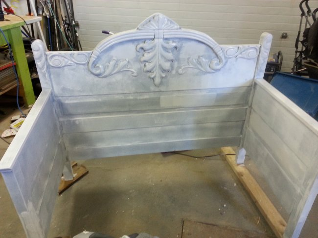 Chalk paint toddler daybed