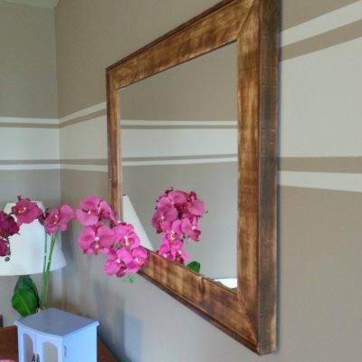Rustic Wood Mirror by L. DeVries Designs