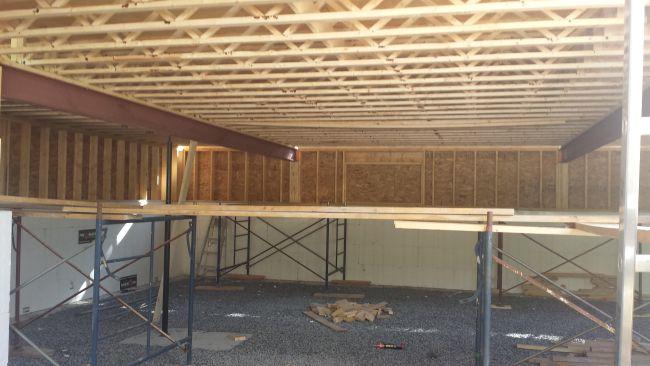 steel beams and floor joists. Owner builder raised bungalow in Ontario