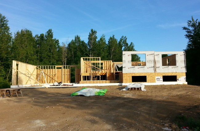 House framing by owner builders in Ontario